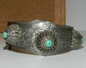 Middle Eastern Nickle Silver Vintage Bracelet