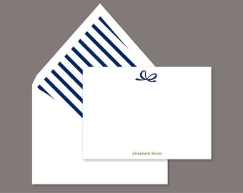Personalized Stationery - Retro Bow Note Set