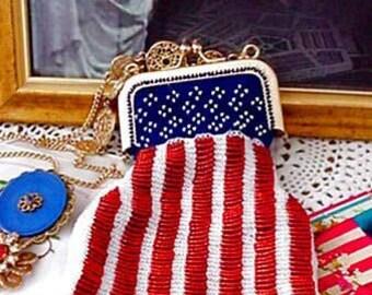 Little Lady Liberty Beaded Bag Purse Pattern
