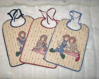 Raggedy Ann & Andy baby bibs - set of three