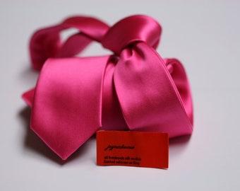 SKINNY Pink Tie in Fine Twill