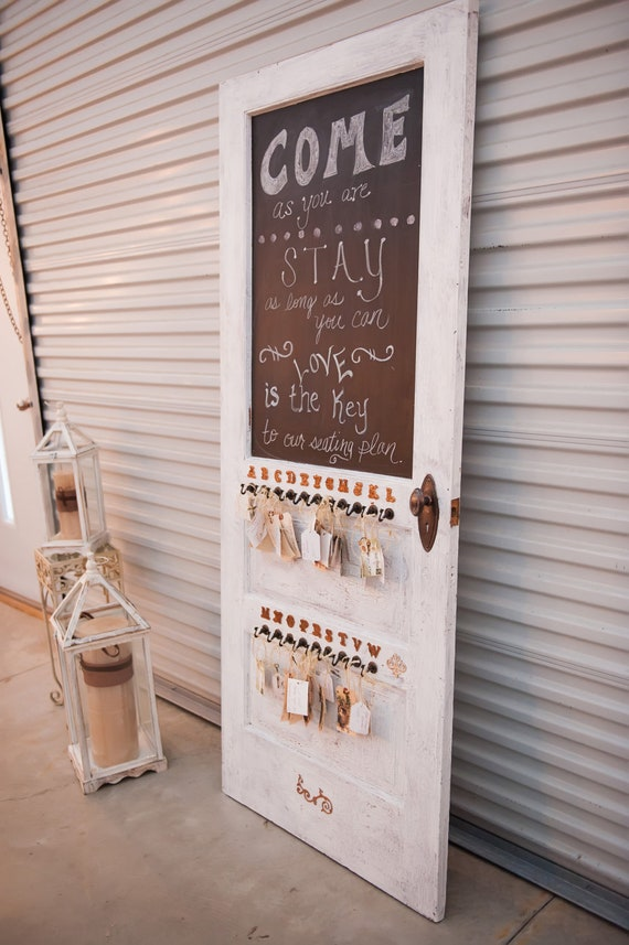 Items similar to shabby chic vintage exterior door wedding for Idee deco retro chic