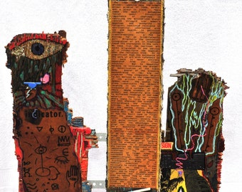 Our Dreamt-of Metalization (a 3-D Exquisite Corpse Short Storybook) -- Painting/Mixed Media