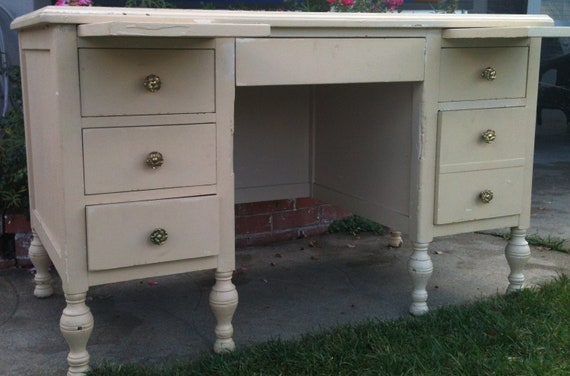 Items Similar To Antique Desk Lincoln Executive Commercial Furniture Company Of Chicago On Etsy