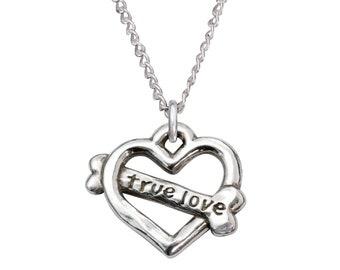 Sterling Silver Heart Necklace - True Love