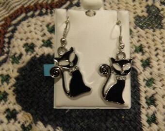 Black Cats 1 Earrings