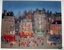"Michel Delacroix ""Le Grand Bal"" Limited Edition Lithograph -- Stone Signed Print"