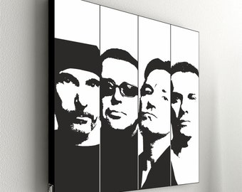 "U2 - Band No.1  - 55 x 55 cm (21,6"" x 21,6"")"