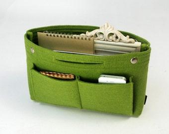 Felt Storage Bag Case Tool bag Cosmetic Basket Container School Bag Bin Organize Front Inside Pockets Handbag Custom E711