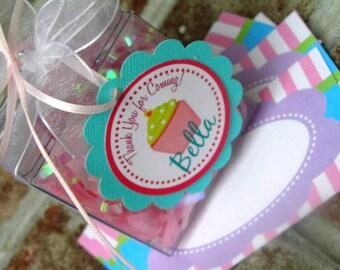 Cupcake Birthday Party Theme - 20 Favor Tags - Bella Cupcake