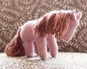 Hand knit toy horse