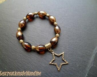 Bracelet vintage your amber/gold