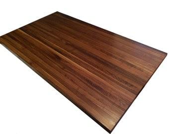 Walnut Butcher Block Countertop - Edge Grain - Kitchen Island Top - Custom Sizes Available