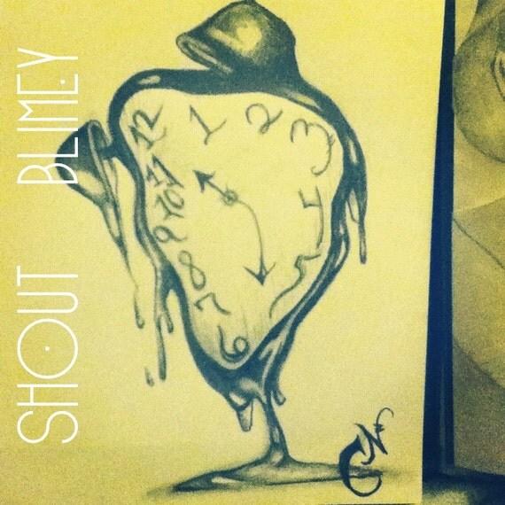 Whimsical Melti... Melting Clock Tattoo Designs