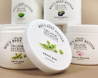 Organic Shea Butter Body Butter with Natural Organic Oils