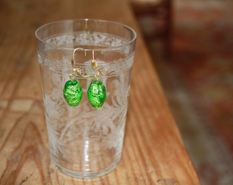 Murano glass earrings pendants