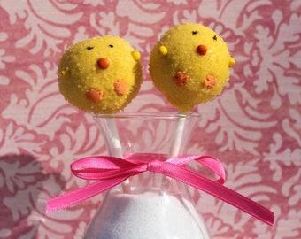 Yellow Chick Cake Pops