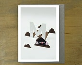 M is for Mole - Greeting Card