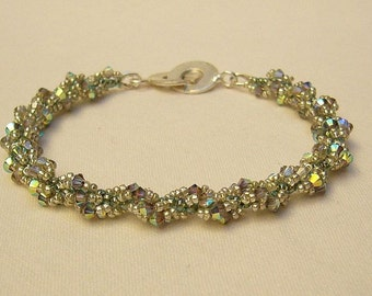 Bracelet with Swarovski Crystals - Crystal and Silvercoloured
