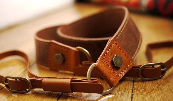 Vintage Leather Camera Strap Stylish Handmade Accessory - photo#7