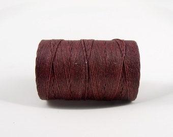 Maroon 4ply (5 yards) Irish waxed linen cord, Irish waxed linen, irish waxed linen thread, maroon linen cord, uk