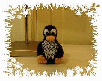 Crochet amigurumi penguin