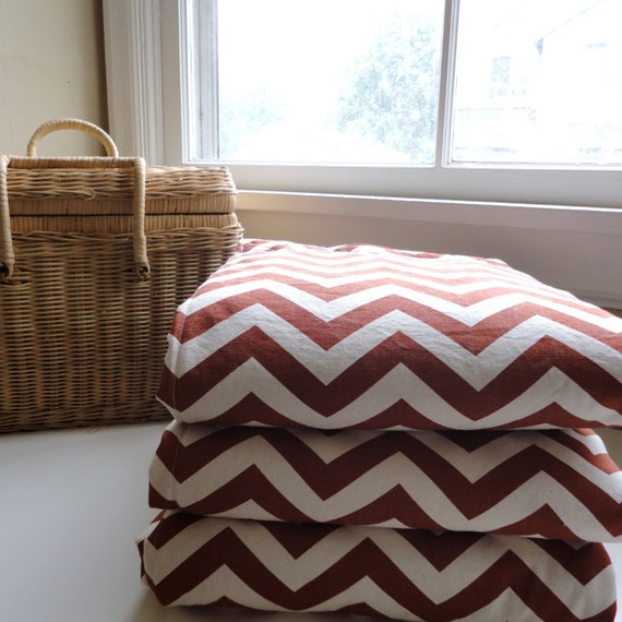 Waterproof Picnic Blanket-Rust Chevron