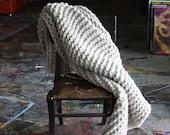 "Chunky Knit Wool Blanket or Throw - The ""Atmosphaera"""