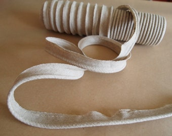 1 Yard Natural Linen Piping with 4mm Cord