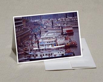 Prints-Greeting Cards-5x7 Set of-5-Original Photos-Blank Inside-Prints from 8x12-Tall Stacks 1992 Cincinnati- SET 025