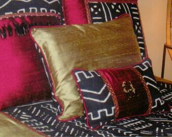 Designer MudCloth & Duponi Silk Bedding-MudCloth Bedding-African Bedding-African Decor~Custom Made