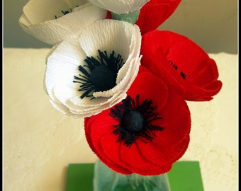 Paper Poppies for Wedding Decorations and Bouquets