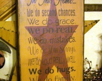 In this home typography Primitive Sign,