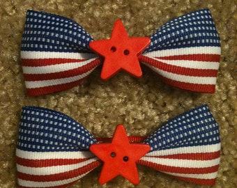 Patriotic Hair Clips
