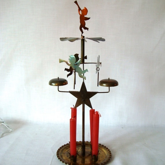 Angel Candle Chimes w/ Candles Vintage 50's Christmas