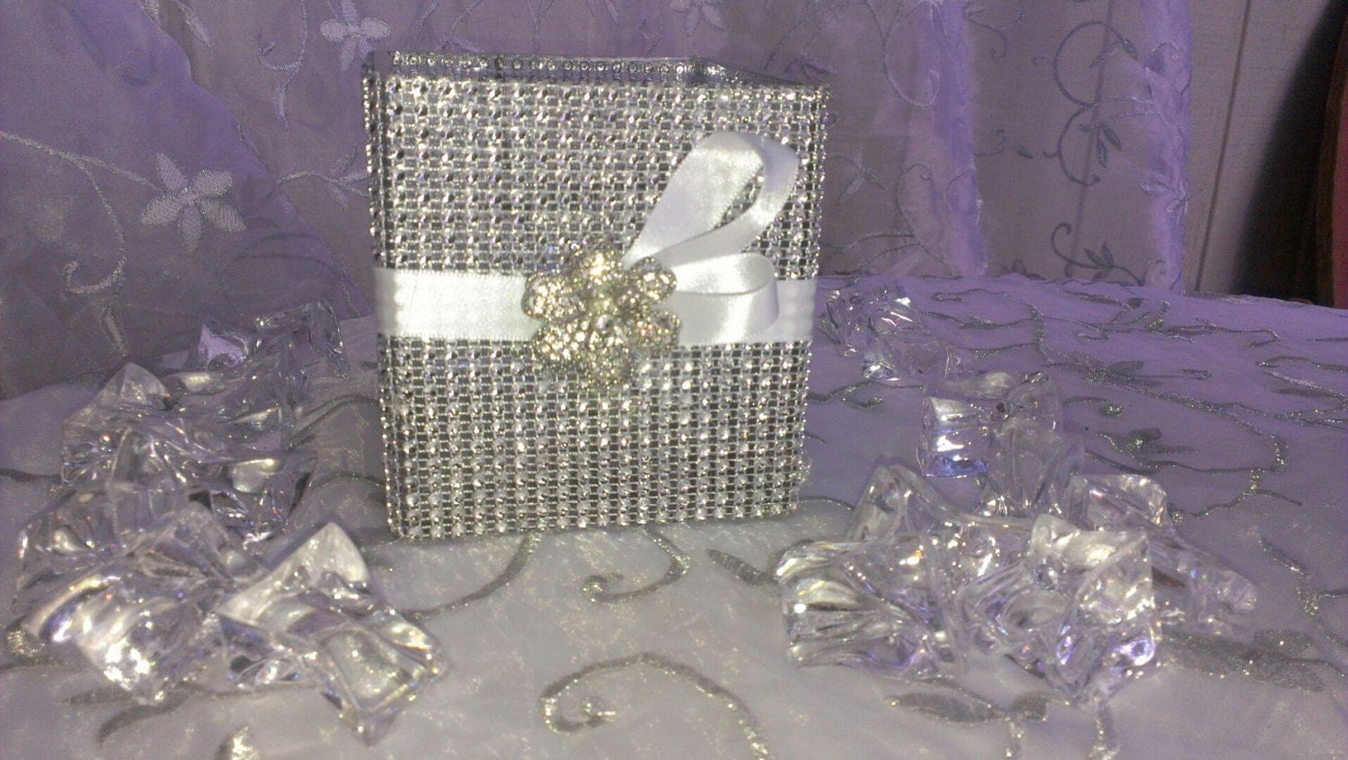Sale bling wedding centerpiece and satin by