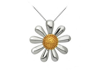 Silver Daisy Necklace (small)