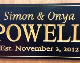 Personalized Name Sign - Exterior Sign - House Sign - Custom Sign
