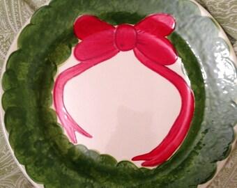 Christmas Wreath Plate