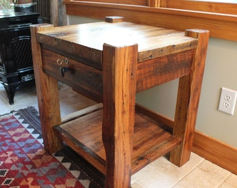 Rustic Night Stand Bedside Table or End table