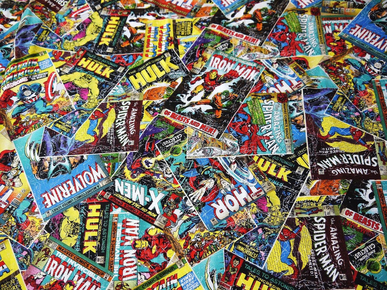 Comic book covers super hero captain america shield thor - Marvel retro wallpaper ...