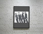 Beatles Inspired Hand Printed Silk Screen Print - 8x10""