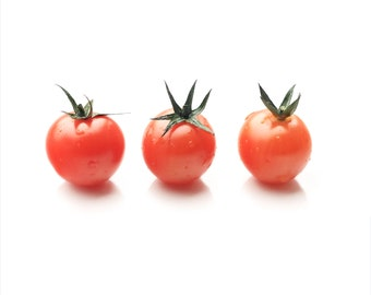 3 Tomatoes - Fine Art Photography Print - 8x10 inch  - Photography - Hahnemuhle - Kitchen - Red - Vegetable - Home Decor