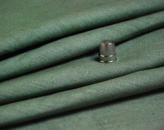 "Yardage, 31.35 yard, 100% Linen fabric, olive green, 54"" Width"