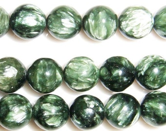 10mm Round Seraphinite Beads 15''L 38cm Loose Beads Semiprecious Gemstone Bead   Supply