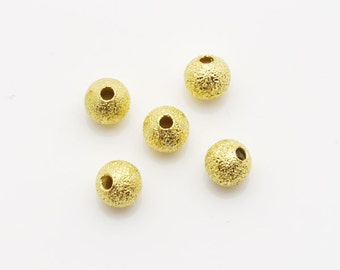 5mm Round Spacer Ball Stardust Gold Tone 500pieces package-
