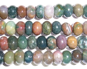 5x8mm Rondelle India Agate - 7545