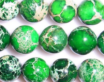 4mm Round Imperial Green Jasper Beads - 9143