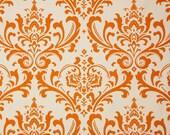 1/2 Yard Fabric- Premier Prints Traditions- Sweet Potato Orange/Natural Damask