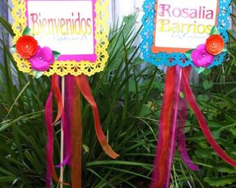 Spanish Fiesta Birthday Signs